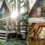 บ้านไม้ทรงสามเหลี่ยมสไตล์รัสติค ขนาดกะทัดรัด โดดเด่นทุกองค์ศา พร้อมพื้นที่สวยงามสำหรับใช้ชีวิตในป่า
