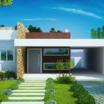 แบบบ้านสไตล์โมเดิร์น ออกแบบทันสมัยบนดีไซน์โดดเด่น 3 ห้องนอน 2 ห้องน้ำ พร้อมที่จอดรถ