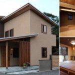 บ้านไม้ญี่ปุ่นขนาดสองชั้น ออกแบบและตกแต่งแบบมินิมอลในโทนสีน้ำตาลอบอุ่น