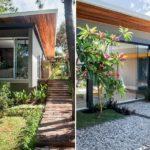 แบบบ้านโมเดิร์นกลางธรรมชาติ โครงสร้างเด่นสวย พร้อมบรรยากาศผ่อนคลายจากป่าไม้เขียวชอุ่ม