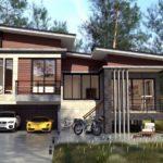 แบบบ้านโมเดิร์นลอฟท์ชั้นครึ่ง 3 ห้องนอน 2 ห้องน้ำ ออกแบบโครงสร้างป้องกันแผ่นดินไหว