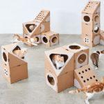 เอาใจทาสแมวด้วยไอเดียเฟอร์นิเจอร์แมวสุดเจ๋ง สร้างจากกระดาษลูกฟูก ประกอบและต่อเติมได้หลายรูปทรง