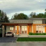 แบบบ้านชั้นเดียวสไตล์โมเดิร์น โทนสีส้มสะดุดตา ครบครันทุกฟังก์ชัน พื้นที่ใช้สอย 140 ตร.ม.