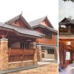 แบบบ้านไม้ยกพื้นไทยประยุกต์ 3 ห้องนอน 2 ห้องน้ำ สง่างามด้วยเส้นสายดั้งเดิมสุดประณีต
