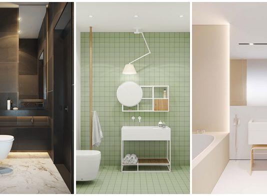 40 Modern Minimalist Style Bathrooms: แบบบ้าน แต่งบ้าน เฟอร์นิเจอร์ ตกแต่งบ้าน