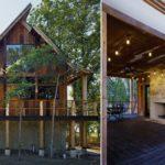 บ้านไม้กึ่งปูนสไตล์ Dogtrot ตกแต่งสวยงามด้วยวัสดุจากธรรมชาติ ในดีไซน์บ้านไม้มีเอกลักษณ์