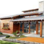 บ้านไตล์คันทรี โครงสร้างครึ่งไม้ครึ่งปูน ผสมความดิบเข้ากับกลิ่นอายธรรมชาติ