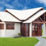 บ้านชั้นเดียวสไตล์คันทรี ดีไซน์บ้านไม้ลงตัวไปกับผนังอิฐโชว์แนวสีขาว ดูสวยงามเป็นเอกลักษณ์