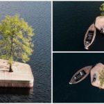 """สถาปนิกชาวออสซี่ผุดไอเดียเจ๋ง! สร้าง """"เกาะกลางแม้น้ำ"""" ใช้เป็นพื้นที่พักผ่อน ตกปลา พร้อมชมวิวรอบเมือง"""