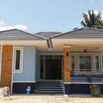 บ้านทรงปั้นหยายกพื้น ตกแต่งดีไซน์ร่วมสมัย โดดเด่นด้วยโทนสีฟ้าสบายตา ให้ความรู้สึกสวยงามมีชีวิตชีวา