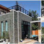 บ้านสไตล์โมเดิร์นสองชั้น ดีไซน์มีเอกลักษณ์ โครงสร้างทันสมัยลงตัวไปกับวัสดุแนวธรรมชาติ