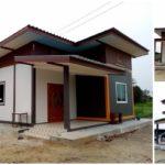 บ้านชั้นเดียวสไตล์คอนเทมโพรารี 3 ห้องนอน 1 ห้องน้ำ พร้อมพื้นที่ใช้สอยสำหรับครอบครัวเล็ก ในงบประมาณ 670,000 บาท