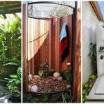 """40 ไอเดีย """"มุมอาบน้ำเอาท์ดอร์"""" สร้างสัมผัสใหม่แห่งการอาบน้ำ ดื่มด่ำไปกับบรรยากาศธรรมชาติ"""