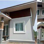 บ้านคอนเทมโพรารีชั้นเดียว ดีไซน์เรียบง่าย พร้อมพื้นที่อยู่อาศัยสะดวกสบาย ในงบประมาณ 400,000+ บาท