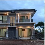 บ้านสองชั้นสไตล์คอนเทมโพรารี ดีไซน์หรูหราน่าอยู่ เน้นโทนสีเทาเรียบง่าย พร้อมพื้นที่ใช้สอยโปร่งสบาย