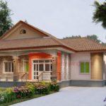 แบบบ้านยกพื้นชั้นเดียว ตกแต่งสไตล์คอนเทมโพรารี 3 ห้องนอน 1 ห้องน้ำ พร้อมพื้นที่พักผ่อนสำหรับครอบครัวเริ่มต้น