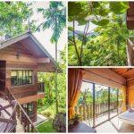 บ้านไม้ตากอากาศสไตล์รัสติค โครงสร้างโปร่งโล่งเปิดรับวิวธรรมชาติ พร้อมบรรยากาศสดชื่นจากต้นไม้เขียวชอุ่ม