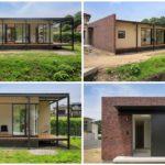 บ้านสไตล์โมเดิร์นชั้นเดียว โครงสร้างทรงเหลี่ยมเรียบง่าย พร้อมพื้นที่ใช้สอยกะทัดรัดในดีไซน์ H-Shape