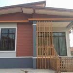 บ้านยกพื้นสไตล์โมเดิร์น 2 ห้องนอน 1 ห้องน้ำ หลังคาทรงปีกนก ดีไซน์ภายในอบอุ่นน่าอยู่ (ก่อสร้างที่จังหวัดสกลนคร)