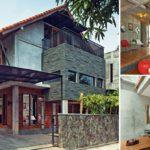 บ้านอินดัสเทรียลทรงหน้าจั่ว ผสมผสานความสวยงามของอิฐโชว์แนว ปูนเปลือย และงานไม้โทนสีอ่อน