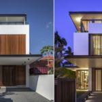แบบบ้านสองชั้นสไตล์โมเดิร์น โดดเด่นด้วยตัวบ้านรูปทรงยาว จัดสรรพื้นที่แคบได้ครบครันและลงตัว