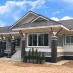 แบบบ้านชั้นเดียวทรงไทยประยุกต์ 2 ห้องนอน 2 ห้องน้ำ พร้อมพื้นที่ใช้สอย 125 ตารางเมตร