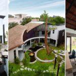 บ้านสไตล์คันทรี ออกแบบโปร่งโล่ง พร้อมโครงสร้างแบบโค้งที่มีเอกลักษณ์สะดุดตา