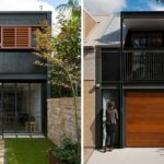 บ้านทาวน์โฮมสไตล์โมเดิร์น ออกแบบสวยดุด้วยงานไม้และโครงเหล็กสีเข้ม