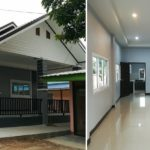 บ้านชั้นเดียวสไตล์ทรอปิคอล ตกแต่งโทนสีเทาเรียบง่าย 2 ห้องนอน 1 ห้องน้ำ พื้นที่ใช้สอย 100 ตารางเมตร