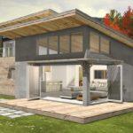 บ้านไม้สไตล์โมเดิร์น เย็นสบายด้วยการออกแบบโปร่งโล่งและเพดานยกสูงด้วยหลังคาทรงเพิงหมาแหงน
