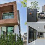 บ้านโมเดิร์นลอฟท์สองชั้น ตกแต่งด้วยไม้ผสมปูนเปลือย บนโครงสร้างทรงเหลี่ยมสุดโดดเด่น