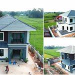 บ้านสองชั้นสไตล์คอนเทมโพรารี ลงตัวทุกมุมมอง มีพร้อมทั้งพื้นที่พักผ่อนและมุมทำครัวไทย