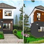 แบบบ้านสองชั้นรูปทรงร่วมสมัย 4 ห้องนอน 3 ห้องน้ำ ในงบประมาณที่คุ้มค่า