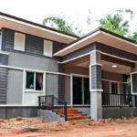บ้านสไตล์โมเดิร์นชั้นเดียว 2 ห้องนอน 1 ห้องน้ำ ใช้งบในการก่อสร้างเพียง 410,000 บาท (ก่อสร้างที่จังหวัดบุรีรัมย์)