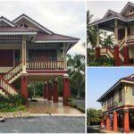 บ้านทรงไทยประยุกต์ใต้ถุนสูง กว้างขวางปลอดโปร่ง พร้อมพื้นที่โล่งว่างใช้งานอเนกประสงค์