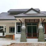 บ้านชั้นเดียวสไตล์ร่วมสมัย ดีไซน์โดดเด่นสวยงามแบบไทย พร้อมมุมพักผ่อนสุดปลอดโปร่ง