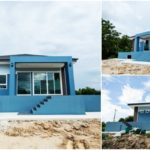 บ้านยกพื้นชั้นเดียว ตกแต่งแนวคอนเทมโพรารี ดีไซน์เพื่อป้องกันปัญหาน้ำท่วม