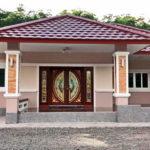 บ้านร่วมสมัยชั้นเดียว โดดเด่นสวยงาม มีพื้นที่ใช้สอยกว้างขวางขนาด 134 ตารางเมตร 3 ห้องนอน 2 ห้องน้ำ