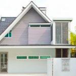 บ้านสไตล์โมเดิร์น โดดเด่นด้วยหลังคารูปทรงหน้าจั่ว ตกแต่งด้วยโทนสีอ่อน ให้บรรยากาศอบอุ่นแบบครอบครัว