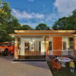 แบบบ้านสไตล์โมเดิร์น 3 ห้องนอน 3 ห้องน้ำ พื้นที่ใช้สอย 120 ตารางเมตร ดีไซน์สวยงามตอบโจทย์คนสมัยใหม่