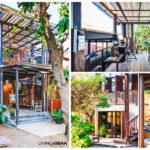 บ้านไทยสไตล์ลอฟท์ครึ่งไม้ครึ่งปูน ผสานความสวยดิบและความโปร่งสบาย