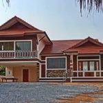 บ้านสองชั้นสไตล์ไทยประยุกต์ บรรยากาศชนบท 3 ห้องนอน 3 ห้องน้ำ พื้นที่ใช้สอย 152 ตารางเมตร
