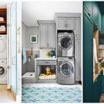 """30 ไอเดีย """"ห้องซักล้าง"""" ตกแต่งพื้นที่ทำความสะอาดให้สวยงามน่าใช้งาน"""