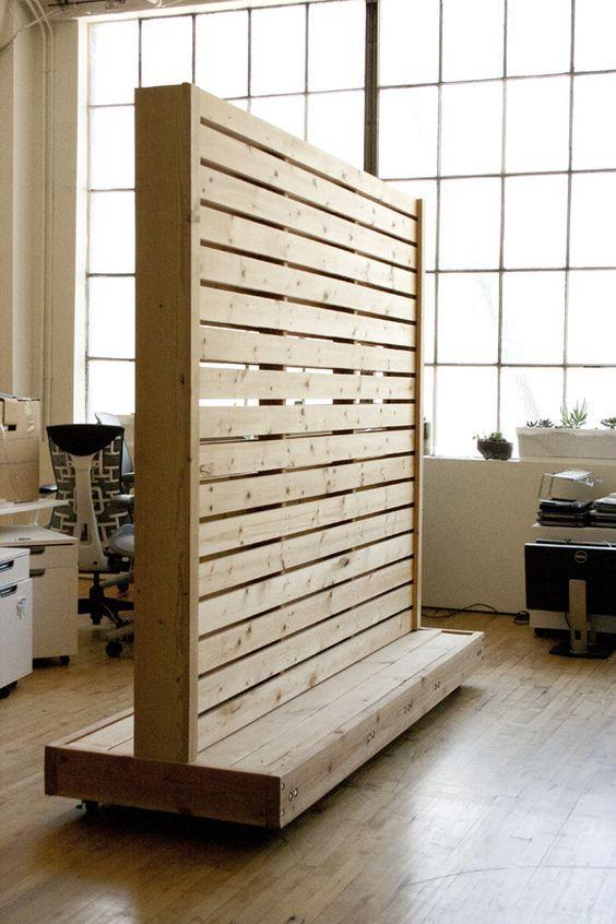 33 ไอเดีย ฉากไม้พาเลทกั้นห้อง แบ่งพื้นที่ใช้สอยในบ้าน ใน