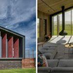 บ้านสไตล์โมเดิร์น พร้อมผนังหน้าบ้านออกแบบเปิดปิดรับแสงธรรมชาติได้อย่างมีเอกลักษณ์