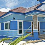 บ้านร่วมสมัยชั้นเดียวโทนสีฟ้าสดใส พร้อมครัวแยกนอกบ้าน 3 ห้องนอน 2 ห้องน้ำ พื้นที่ใช้สอย 110 ตารางเมตร (จังหวัดอุดรธานี)