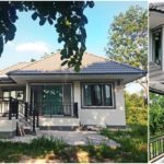 บ้านสไตล์คอนเทมโพรารีชั้นเดียว สวยงามเรียบง่าย พร้อมเฉลียงพักผ่อนรอบบ้าน