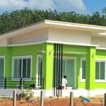 บ้านสไตล์โมเดิร์นสีเขียวสด ตกแต่งน่ารักน่าอยู่ ในงบประมาณ 750,000 บาท