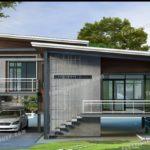 แบบบ้านสไตล์โมเดิร์นลอฟท์ ดีไซน์ลงตัวในรูปทรงเหลี่ยม พร้อมพื้นที่ขนาด 180 ตารางเมตร