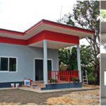 บ้านชั้นเดียวราคาประหยัด ตกแต่งเรียบง่ายสไตล์โมเดิร์น 1 ห้องนอน 1 ห้องน้ำ ในงบเพียง 3.2 แสนบาท